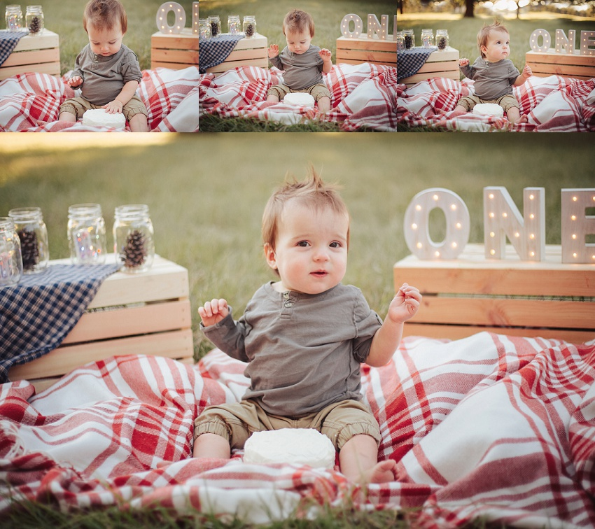 Daphne Made Her Own Birthday Cake Too: Rustic Woodland First Birthday Pictures